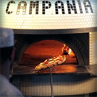 Hot, fresh brick oven pizza