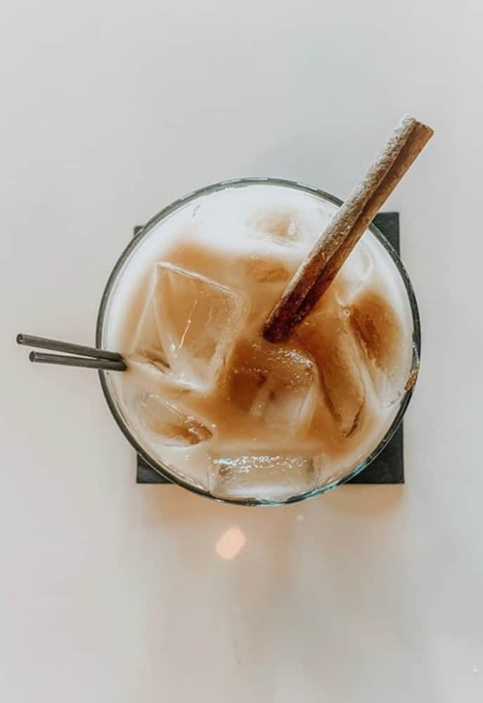 our version of a White Russian cocktail