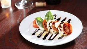 caprese salad served as perfect appetizer to share